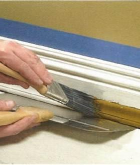 Как покрасить потолочный плинтус из пенопласта: надо ли красить плинтуса потолочные пенопластовые, нужно ли, как правильно красить