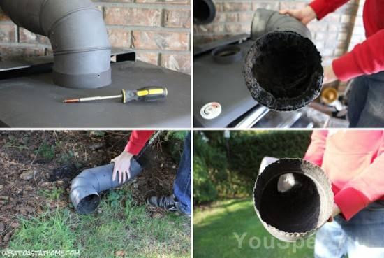Как чистить дымоход печи от сажи – варианты и средства