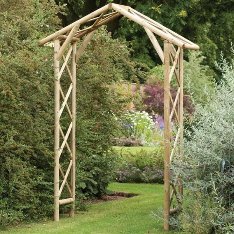 Как сделать в саду своими руками перголу из дерева и металла