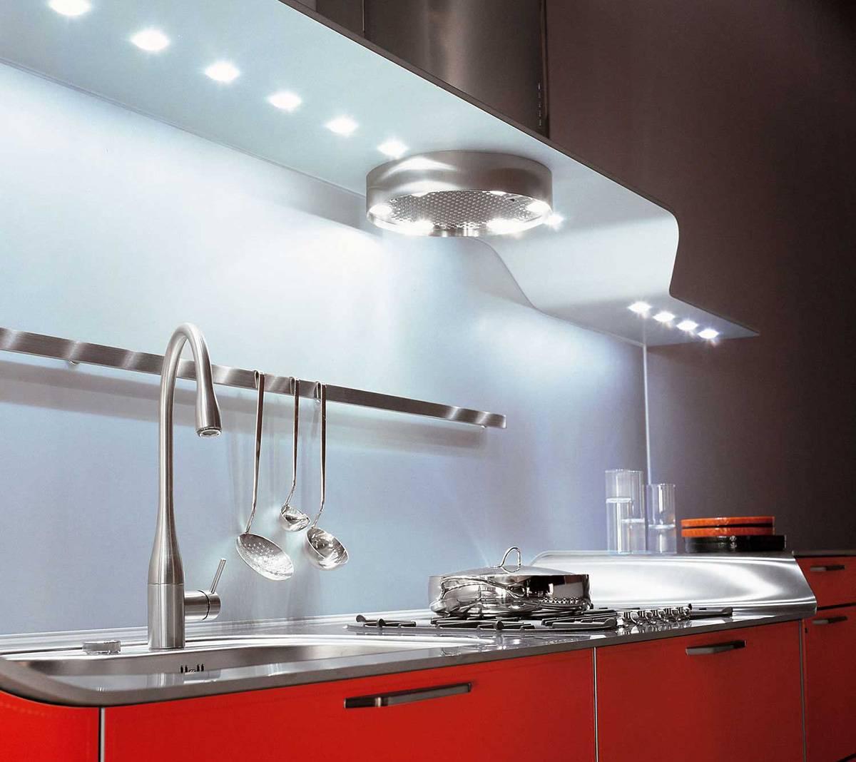 Освещение на кухне (52 фото): как правильно организовать свет в интерьере кухни? дизайн и варианты расположения светильников на потолке и стенах