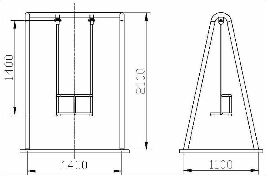 Как сварить качели из металла: инструкции и чертежи деталей на детские качалки