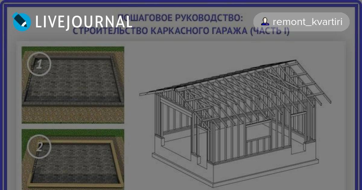 Как сделать каркасный гараж своими руками: пошаговое руководство по строительству