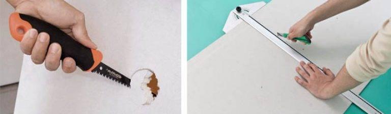 Как правильно резать влагостойкий гипсокартон