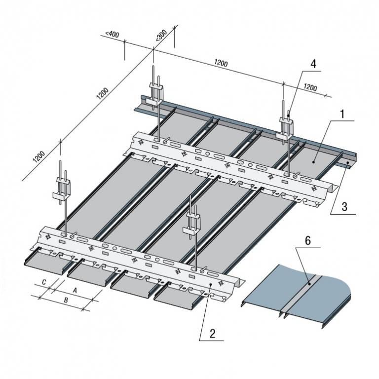 Как сделать монтаж реечного потолка своими руками - технология  устройства, смотрите фотографии и видео