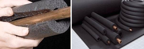 Утеплитель для труб отопления: обзор видов + примеры применения