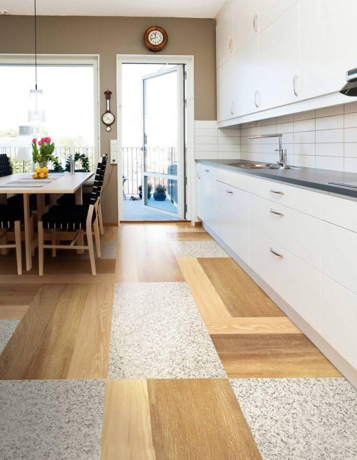 Какой линолеум лучше для кухни - 3 критерия выбора (10 фото в интерьере)