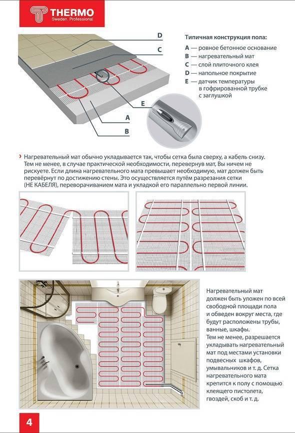 Укладка теплого водяного пола под плитку: рекомендации и пошаговая инструкция