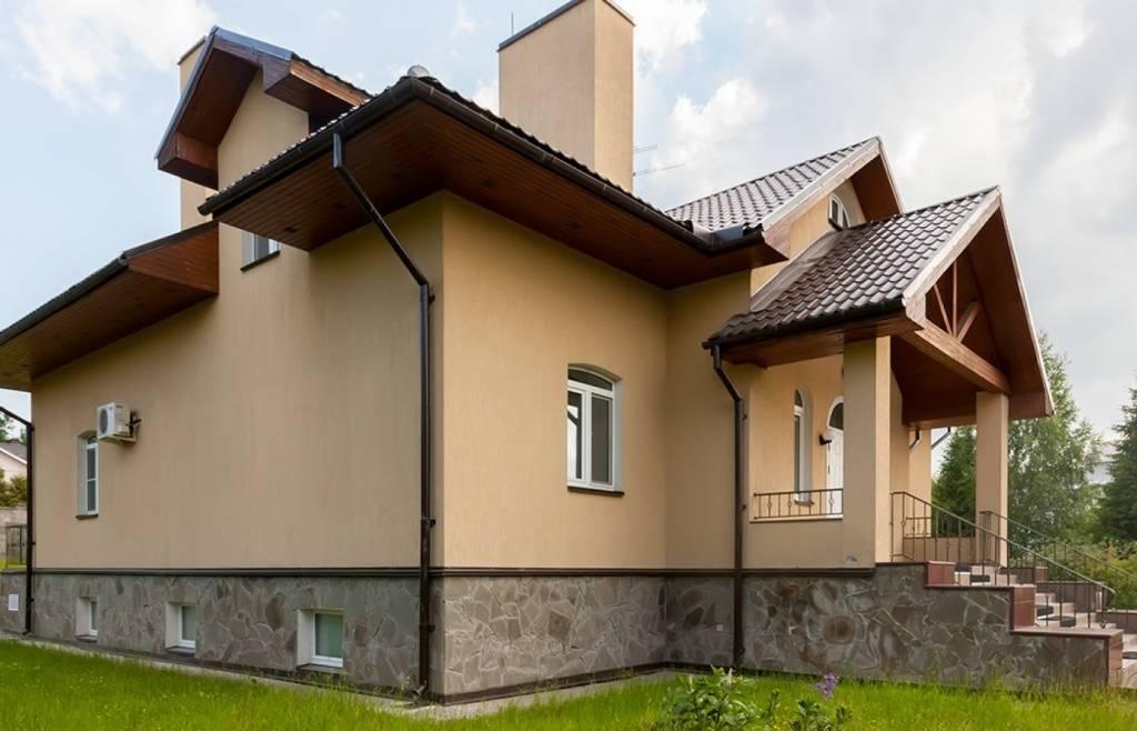 Варианты отделки фасада дома из газобетонных блоков