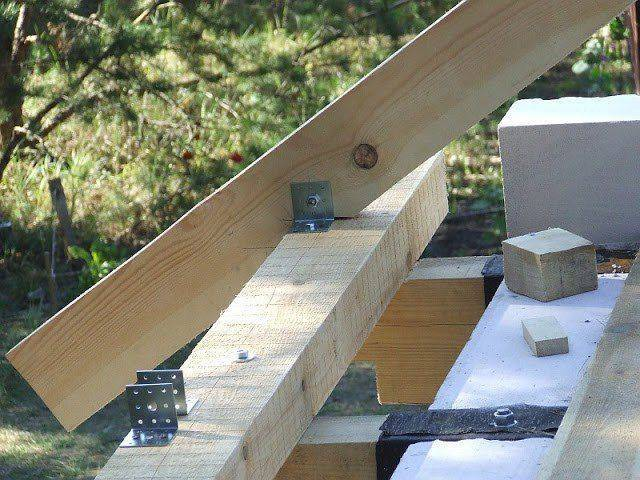 Как закрепить стропила: крепление к брусьям, мауэрлату и другим элементам крыши