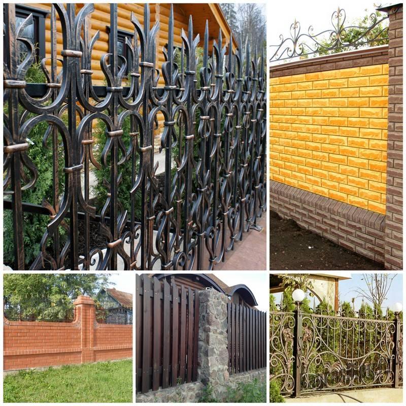 Виды заборов для дачи и сада – фото интересных вариантов