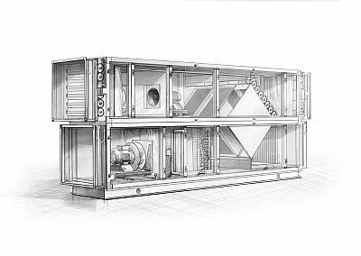 Как устроена каркасно-панельная установка для вентсистем