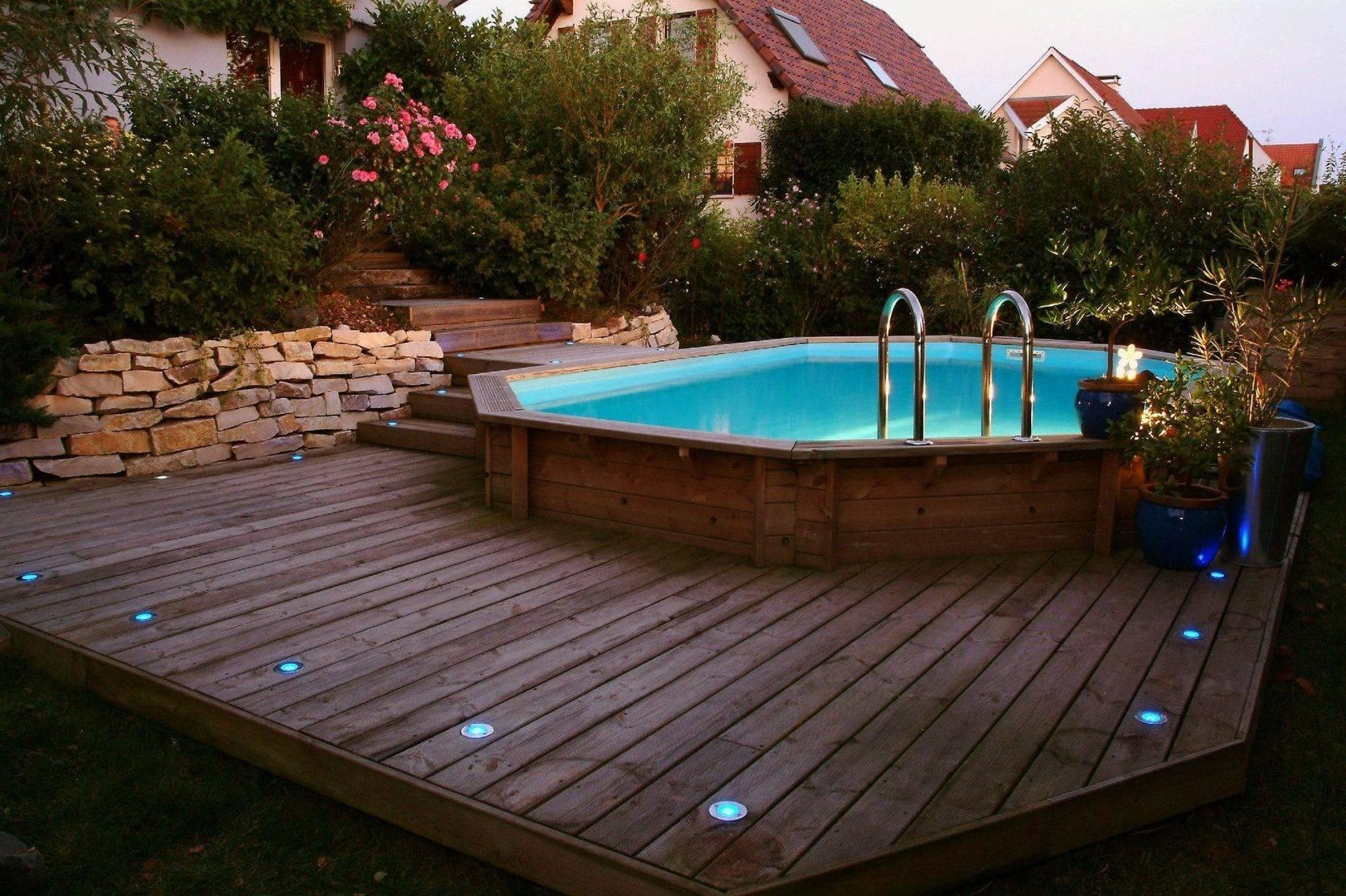 Как построить бассейн на даче своими руками из готовой чаши
