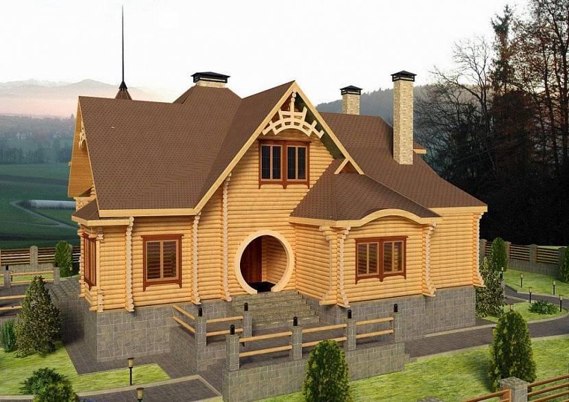 Оцилиндрованное бревно: плюсы и минусы бревенчатых домов