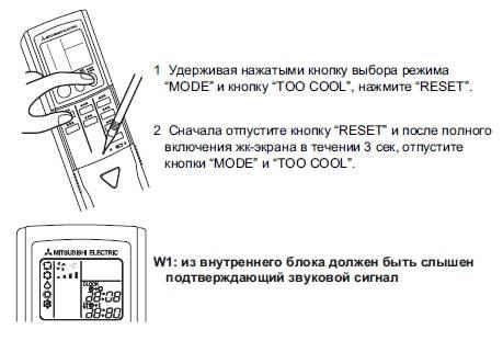 Коды ошибок кондиционера