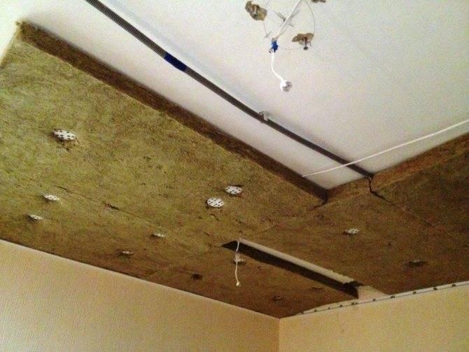 Шумоизоляция потолка в квартире под натяжное полотно и звукоизоляция: как сделать и цена