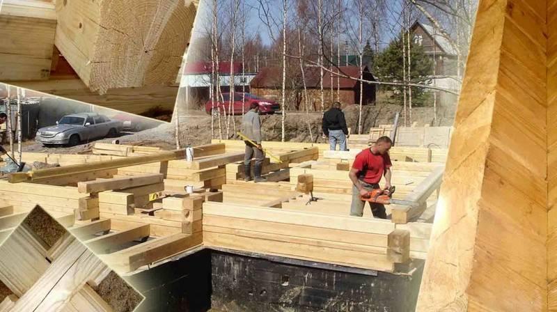 Строительство и утепление стен дома из бруса