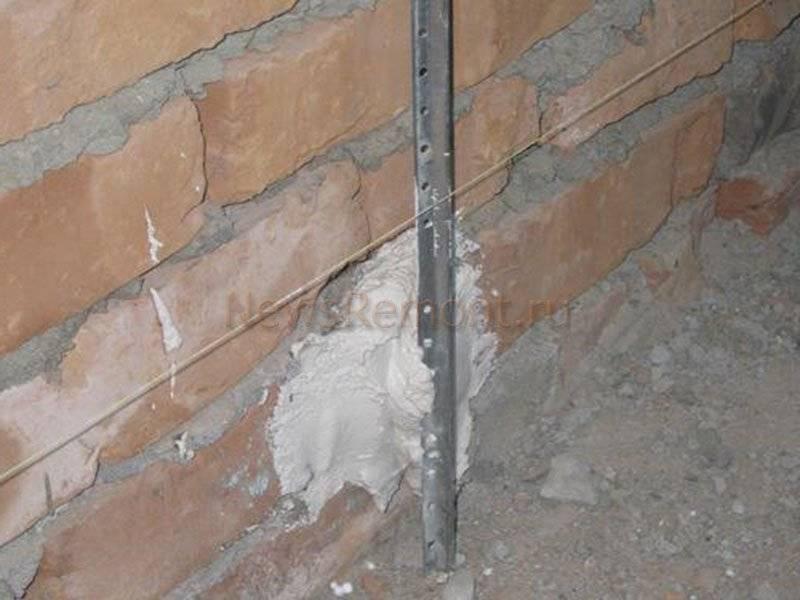Как выставить маяки под штукатурку - строительство и ремонт