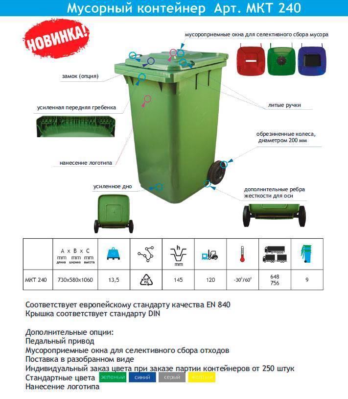 Уличные контейнеры для мусора металлические: описание, характеристики