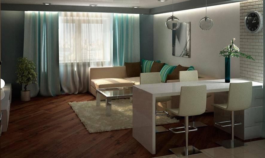 Дизайн кухни-гостиной – фото интерьеров кухонь, совмещенных с гостиными