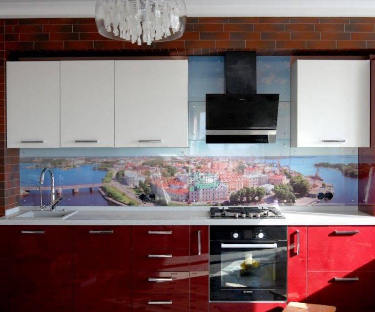 Скинали — беспроигрышный вариант добавить уникальности интерьеру: фото интересных стеклянных фартуков для кухни