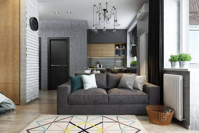 Дизайн квартиры 38 кв. м. [70+ фото], планировки 1-комнатных