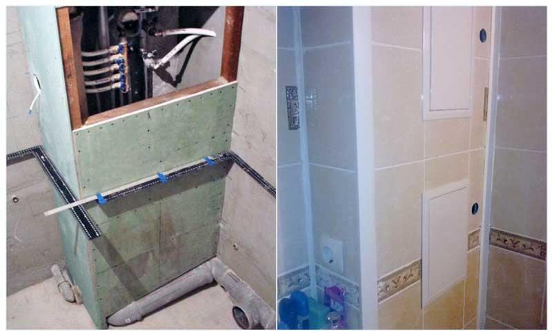 Как закрыть трубы в туалете: обзор вариантов и пошаговая инструкция - строительство и ремонт