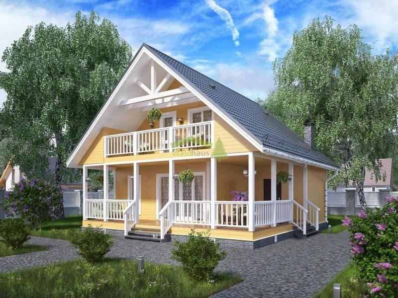 Дачный домик своими руками   идеи, проекты (55 фото) !!!