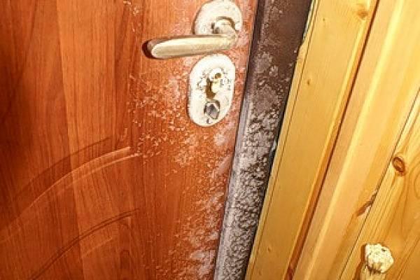 Что делать с конденсатом на входной металлической двери