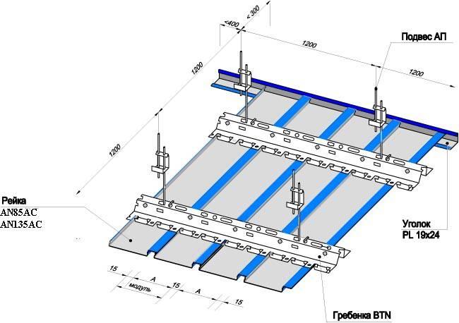 Что собой представляют реечные потолки? описание, видео монтажа