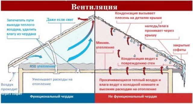 Вентиляция холодного чердака: жизнь без конденсата