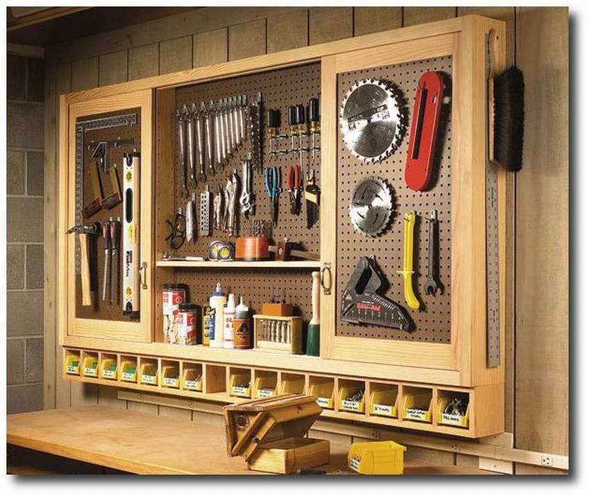 Домашняя мастерская – оптимизация пространства и удобное хранение инструментов. организация хранения инструментов хранение топоров в гараже