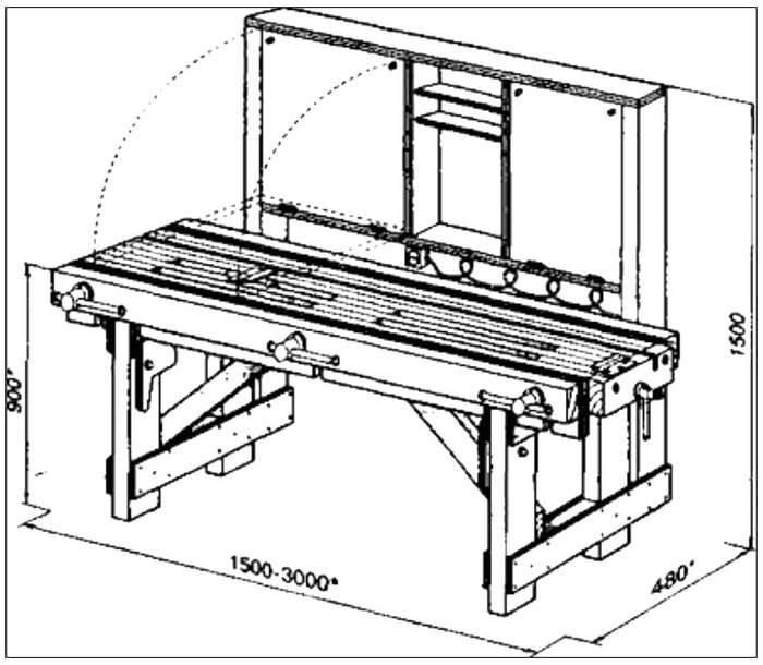 Слесарный верстак своими руками (38 фото): чертежи и размеры стола по госту. как сделать металлический и деревянный верстак для тисков для гаража?