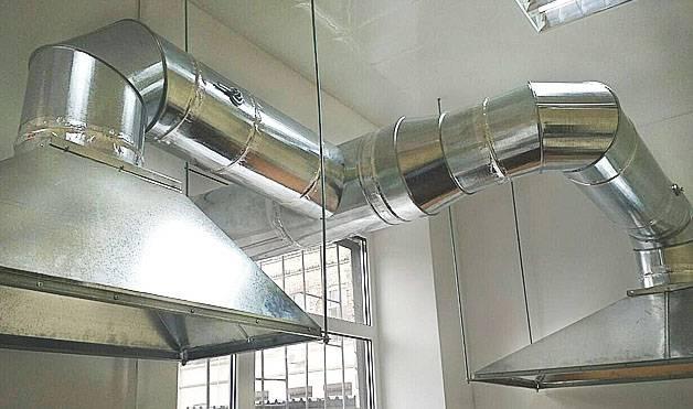 Прямоугольные и круглые воздуховоды из оцинкованной стали