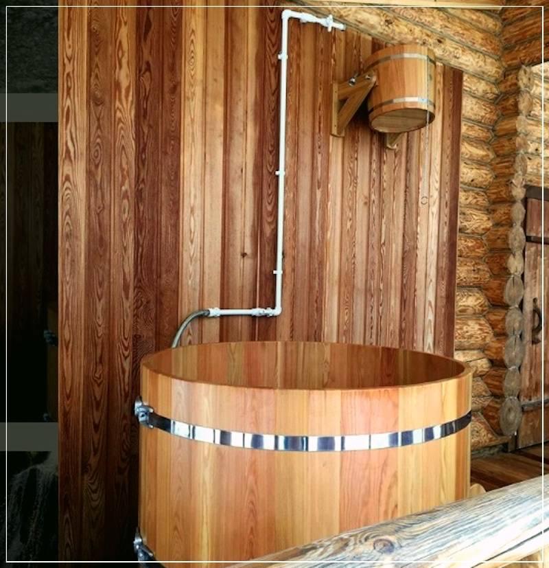 Делаем купель для бани своими руками из дерева или бетона – чертежи и размеры