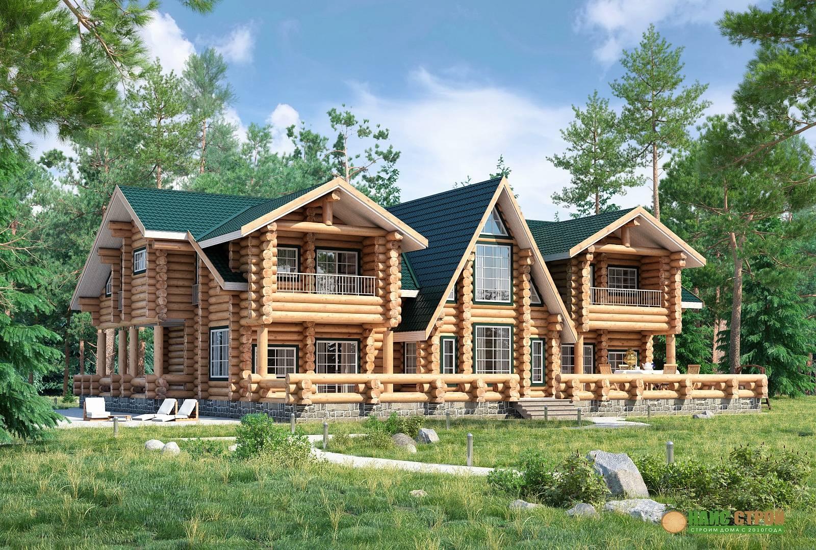 Строительство домов из бревна: как построить недорогой и экологичный дом