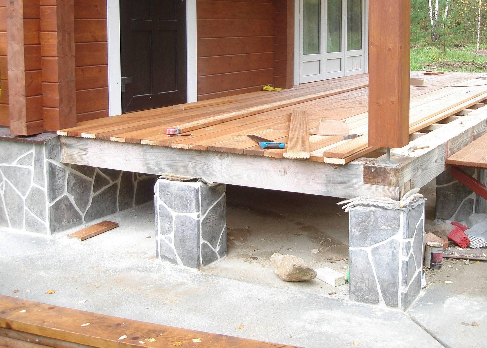 ✅ фундамент под веранду: пошаговая инструкция строительства своими руками, как сделать столбчатый для террасы, отдельно или связать к дому - tehnoyug.com