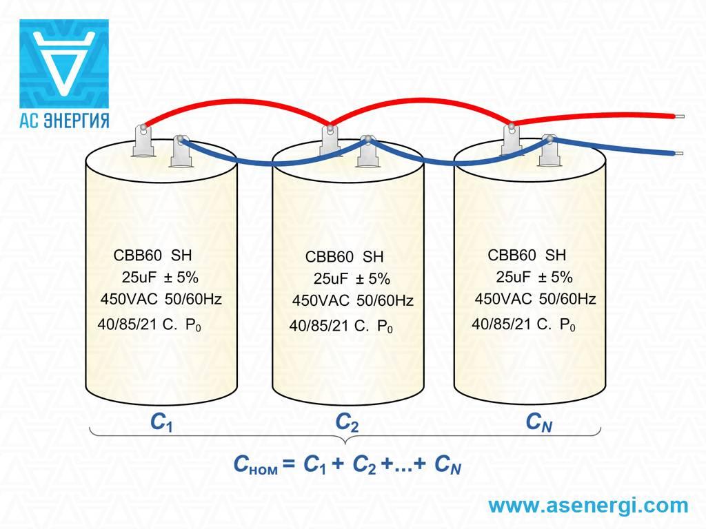 Как подобрать конденсатор для однофазного электродвигателя или трехфазного - ооо «сзэмо электродвигатель»