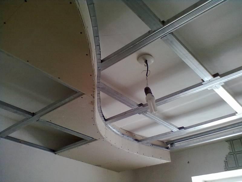 Чертежи потолков из гипсокартона, как продумать схему конструкции, особенности устройства потолка волной, детали на фото +видео