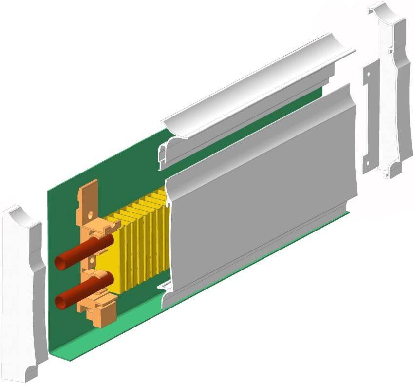 Плинтусное отопление: особенности установки водяного и электрического теплого плинтуса