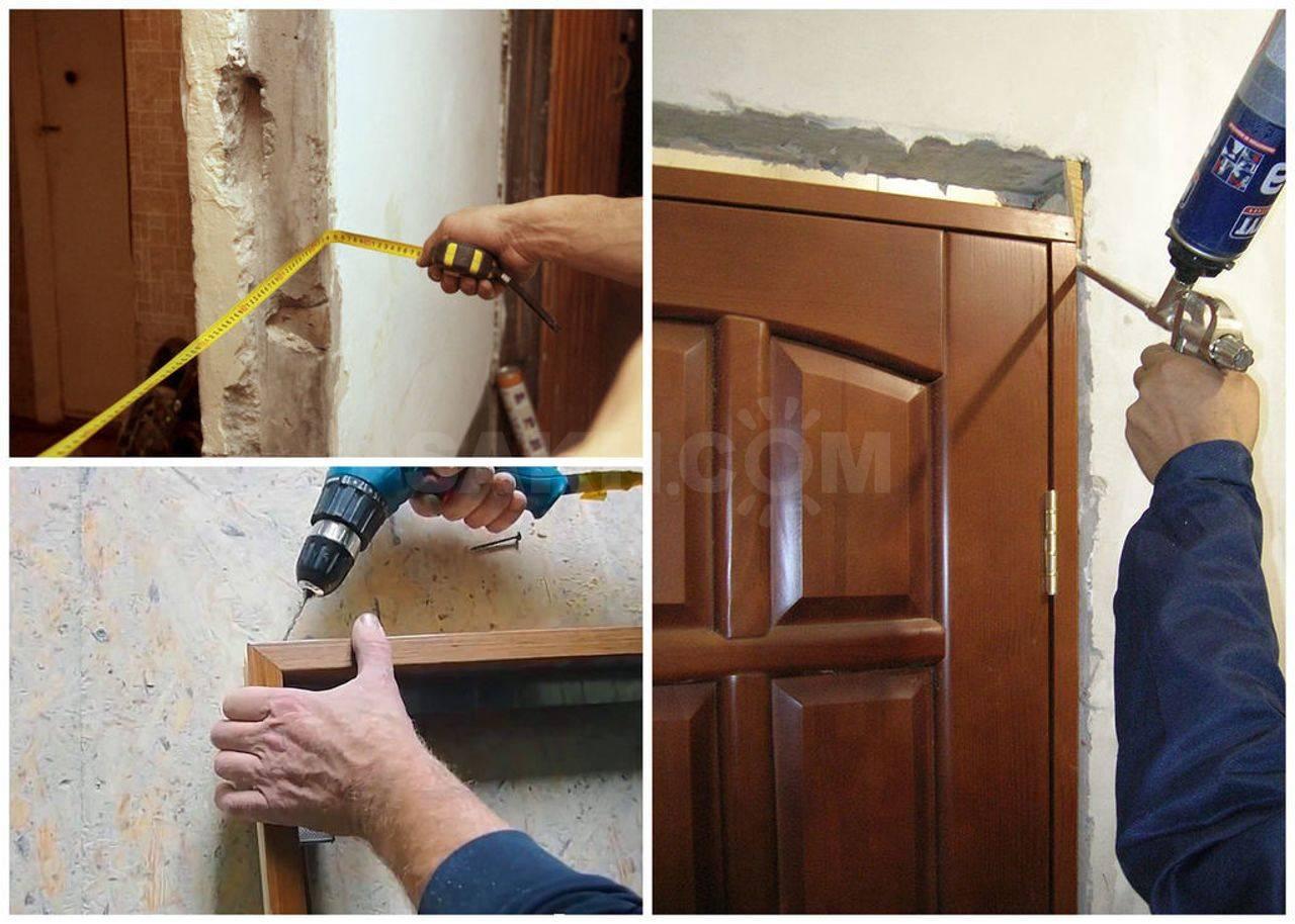 Ремонт межкомнатной двери: производим замену и вставку разбитого стекла, цена ремонта