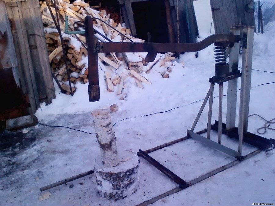 Самодельные дровоколы – конструкция и видео изготовления