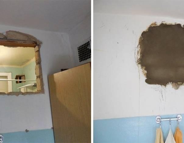 Зачем окно между кухней и ванной: как заделать, чем закрыть, задекорировать