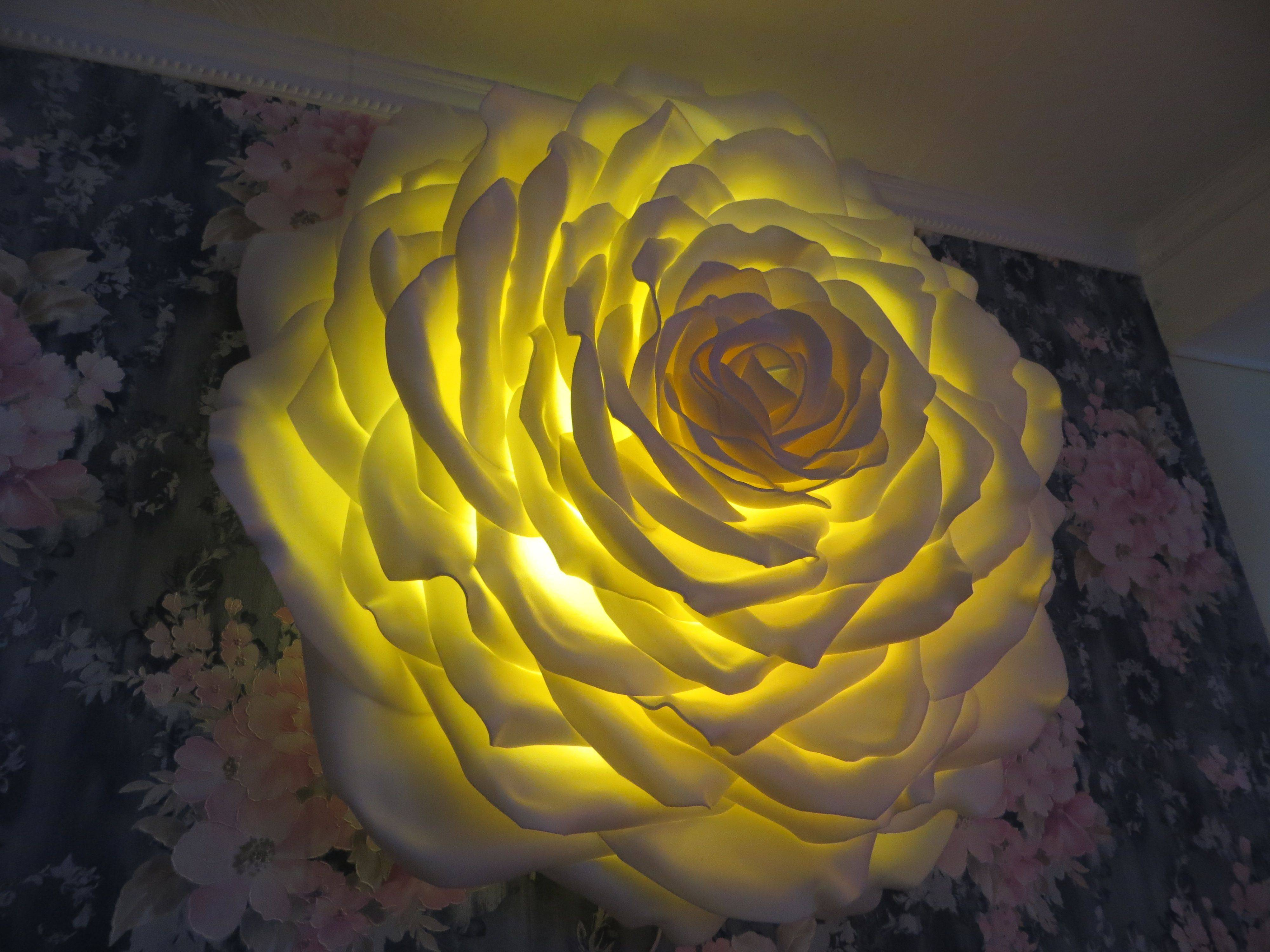 Цветы светильники из изолона: как сделать ростовой торшер в виде большой розы