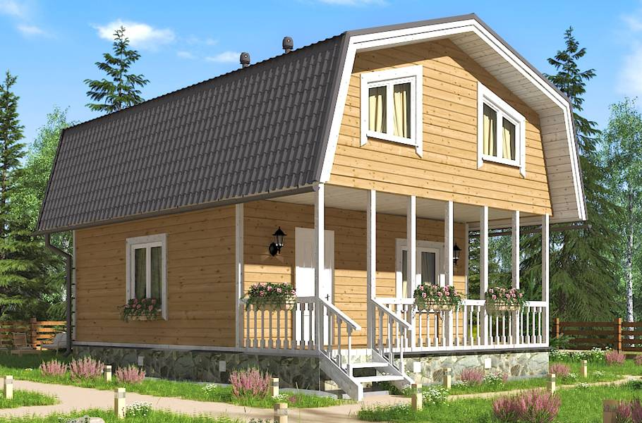 Проекты дачных домов: с верандой, мансардой, двухэтажных (22 проекта)