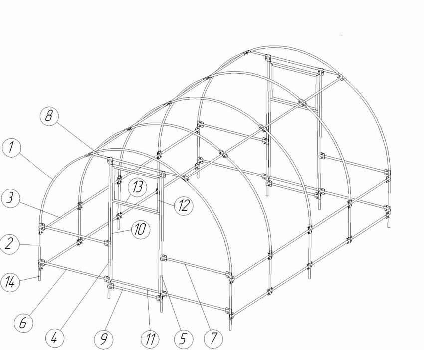 Парник из поликарбоната: размеры и разновидности форм