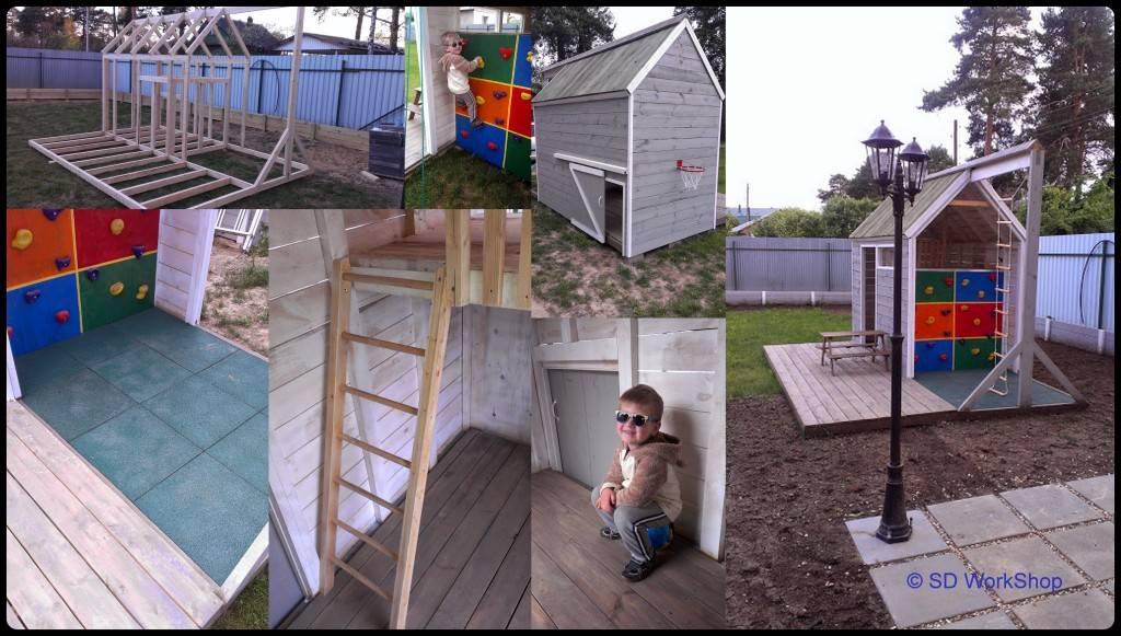 Отец построил для сына игровой домик своими руками: подробная инструкция с фото (получится у каждого)