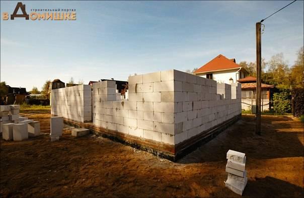 Как построить дом из газобетона своими руками: инструкция +видео