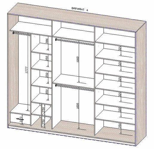 Наполнение шкафа купе: в прихожую и спальню, размеры
