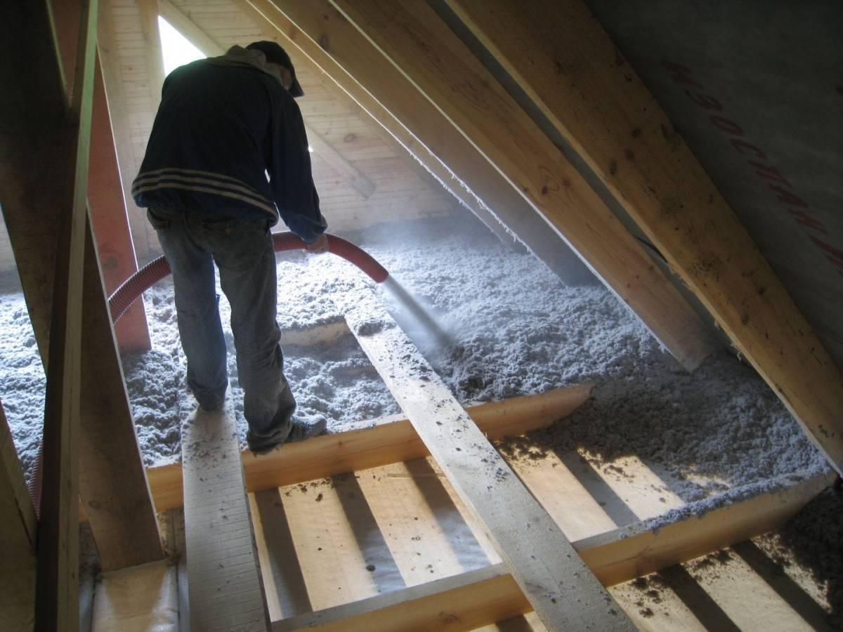 Утепление потолка в доме с холодной крышей - способы, материалы и порядок работ