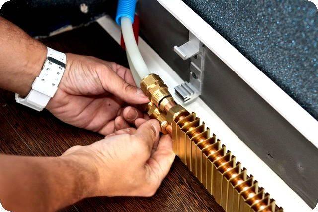 Принцип работы плинтусной системы отопления